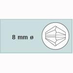 Kristall-Schliffp. 8mm