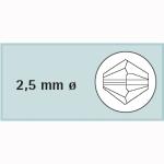 Kristall-Schliffp. 2,5mm
