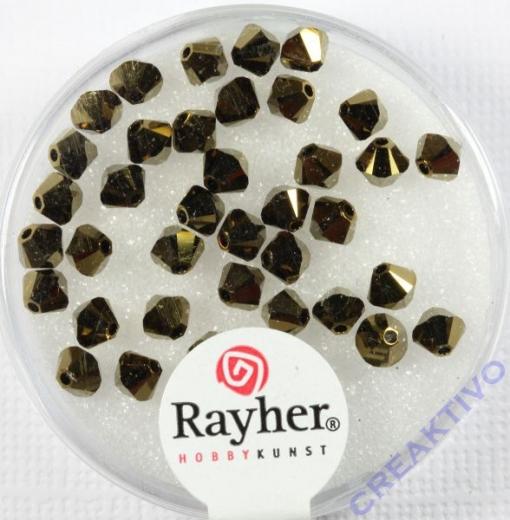 Swarovski Kristall-Schliffperlen Star 4mm 40St kupfergold
