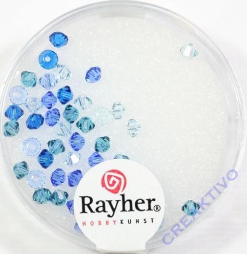 Rayher Swarovski Kristall-Schliffperlen 3mm blau-Töne