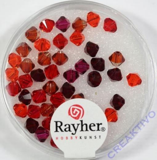Swarovski Kristall-Schliffperlen 4mm 50St rot-Töne