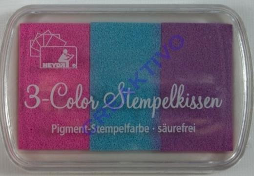 Heyda 3-Color Stempelkissen Babyfarben