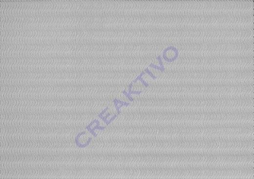 3D-Bastelwellkarton 50x70 cm silber