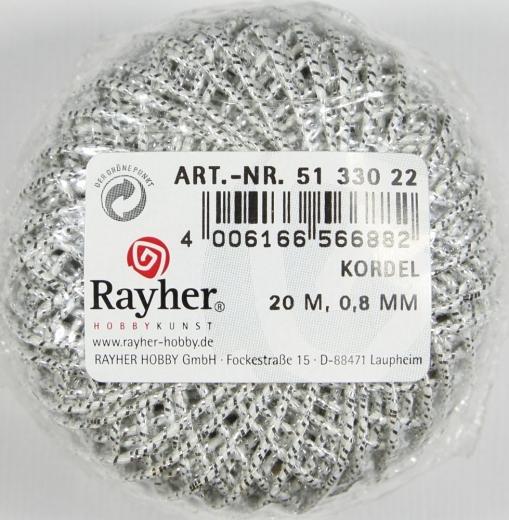 Kordel 0,8mm 20m silber