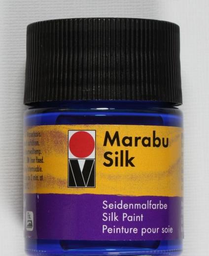 Marabu Silk Seidenfarbe 50ml azurblau