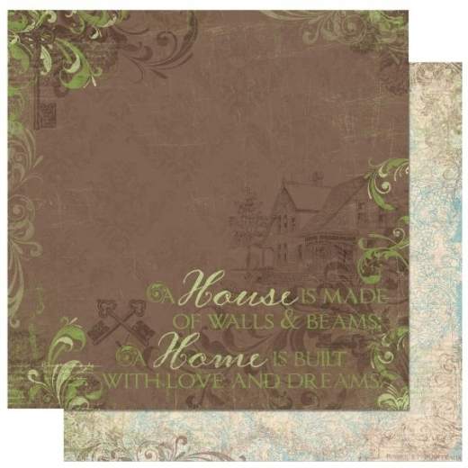 Scrapbooking Papier Welcome Home Dreams (Restbestand)