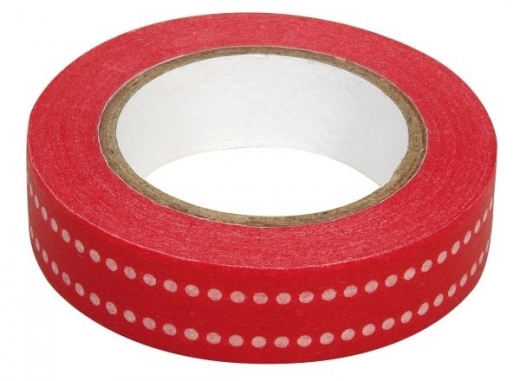 Rayher Washi Tape Punkte Duo rot