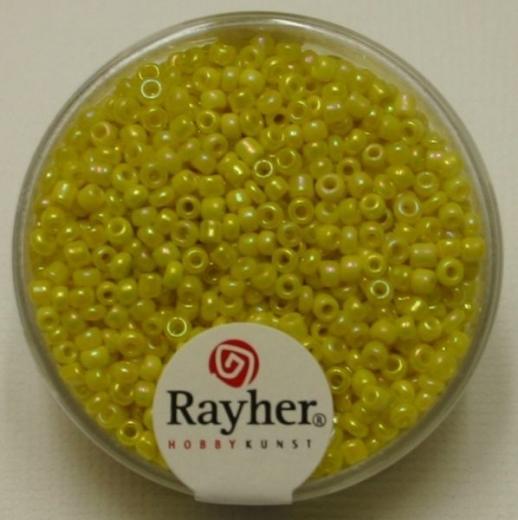 Rocailles 2 mm ø opak gelüstert gelb