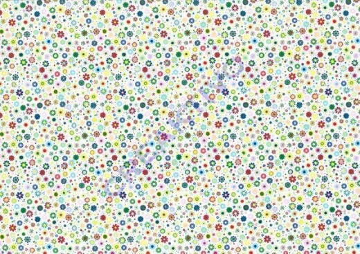 Motiv-Fotokarton 300g/qm 50x70cm Blumen Mini