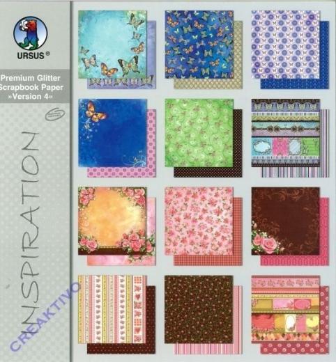 Premium Glitter Scrapbook Paper Version 4