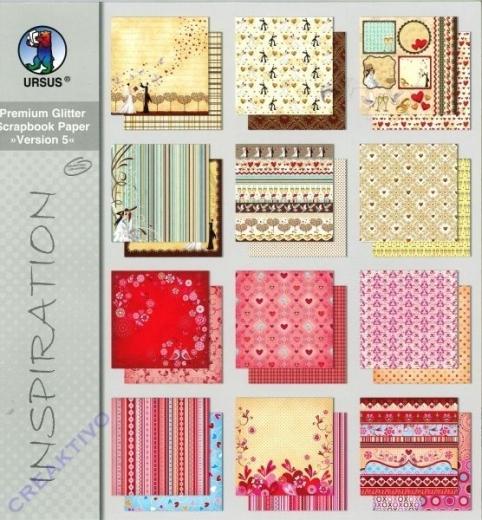 Premium Glitter Scrapbook Paper Version 5