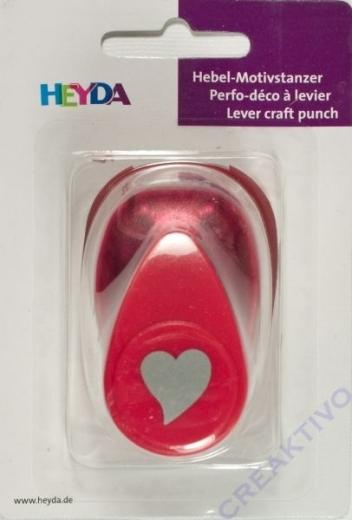 Heyda Hebel-Motivstanzer klein geschwungenes Herz