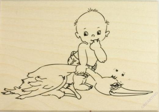 Knorr Stempel Baby und Storch