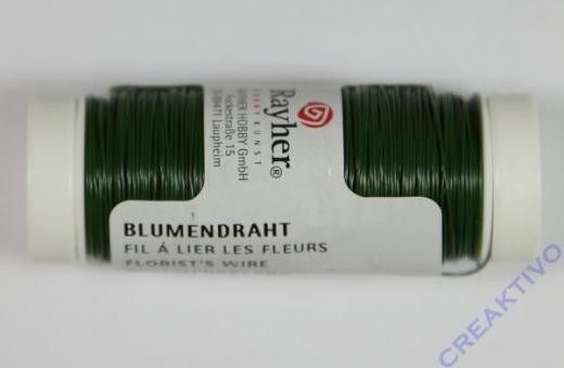 Blumendraht 0,35 mm dunkelgrün
