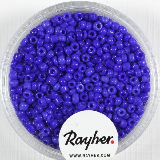 Rocailles 2 mm ø opak dunkelblau