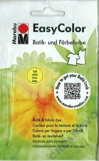 Easy Color Batik- und Färbefarbe 25g gelb
