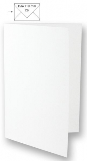 Karte A6 210x148mm 220g weiß