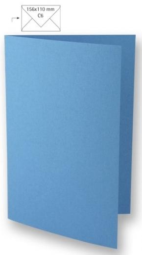 Karte A6 210x148mm 220g azurblau
