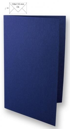 Karte A6 210x148mm 220g nachtblau