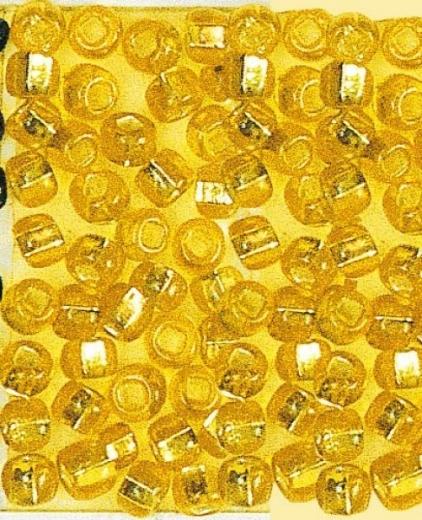 Rocailles 2 mm ø mit Silbereinzug gelb