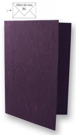 Karte B6 232x168mm 150g Japanseide pflaume (Restbestand)