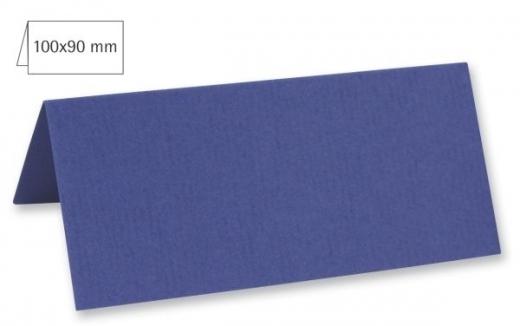 Tischkarte doppelt 100x90mm 220g royalblau