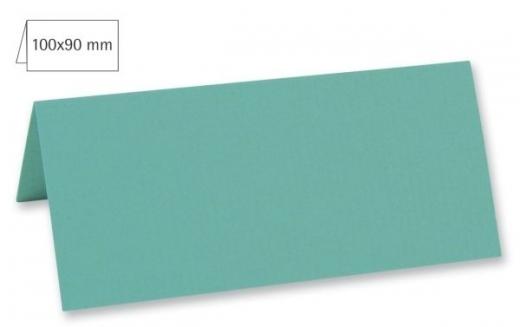Tischkarte doppelt 100x90mm 220g türkis