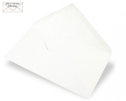 Kuvert DIN lang 220x110mm 90g weiß