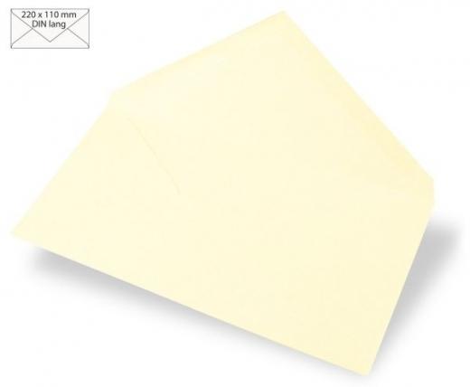 Kuvert DIN lang 220x110mm 90g elfenbein