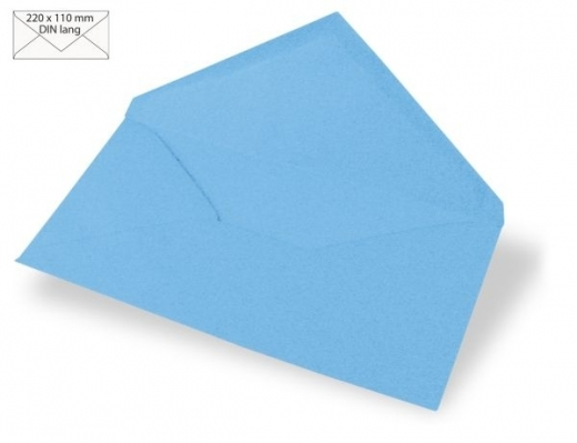 Kuvert DIN lang 220x110mm 90g azurblau
