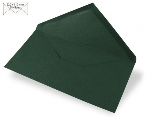 Kuvert DIN lang 220x110mm 90g piniengrün