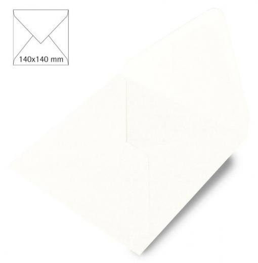 Kuvert quadratisch 140 x 140mm 90g weiß (Restbestand)