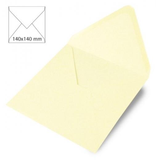 Kuvert quadratisch 140x140mm 90g elfenbein (Restbestand)