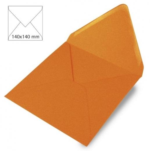 Kuvert quadratisch 140x140mm 90g mandarine (Restbestand)