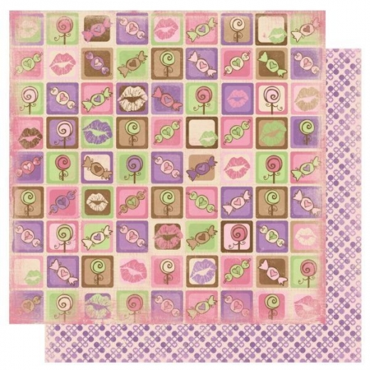 Scrapbooking Papier Smoochable Eye Candy (Restbestand)