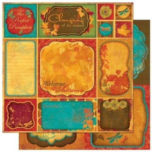 Scrapbooking Papier Forever Fall Cut Outs (Restbestand)