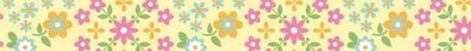 Fabric Tape - Daisy zitrone