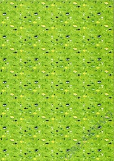 Bastelkarton Kommunion / Konfirmation grün Muster