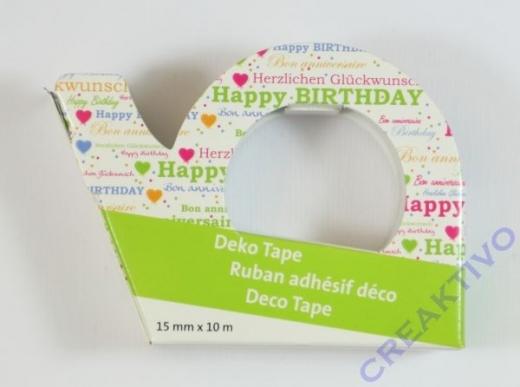 Heyda Deko Tape Happy Birthday