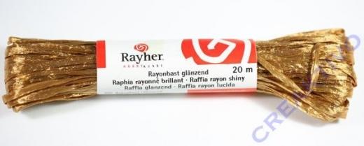 Rayonbast glänzend 20m mittelbraun