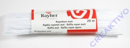 Rayonbast matt 20m weiß