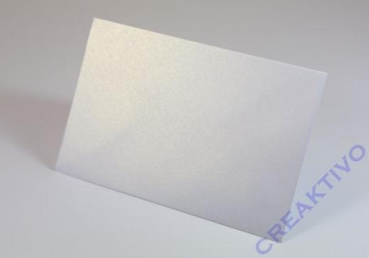 Kuvert DIN lang 220x110mm 120g weiß metallic