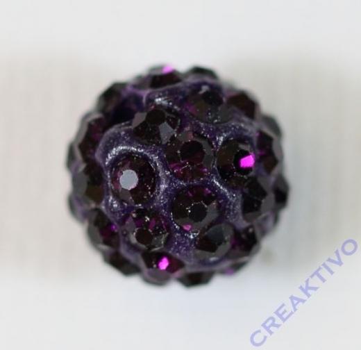Shamballa Bead 10mm amethyst