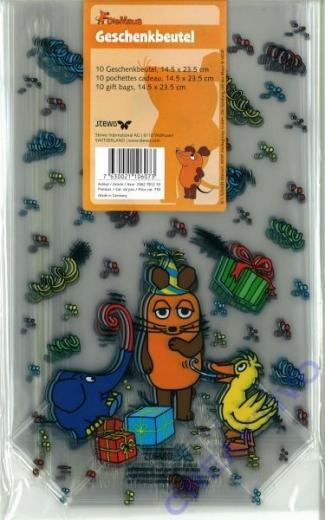 Geschenkbeutel Die Maus 14,5 x 23,5 cm 10 Stück (Restbestand)