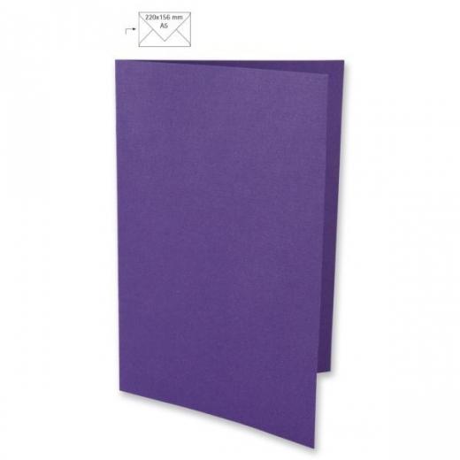Karte A5 297x210mm 220g violett