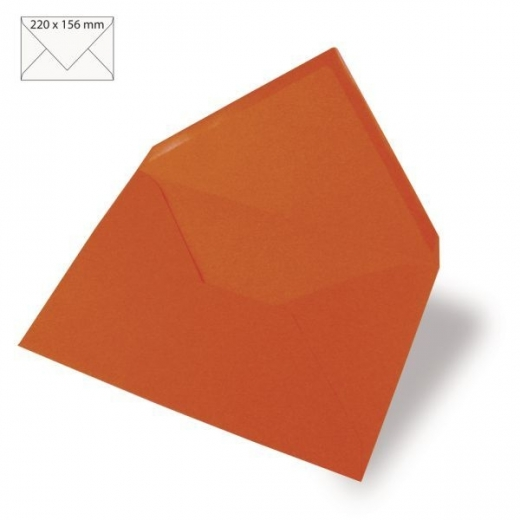 Kuvert A5 220x156mm 90g orange (Restbestand)
