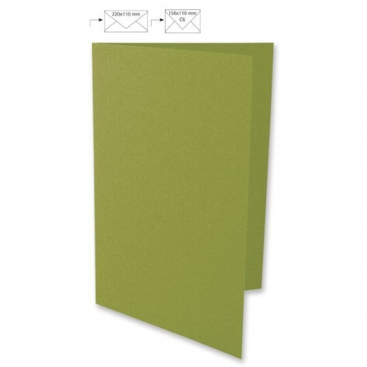 Karte A4 210x297mm 220g olive (Restbestand)