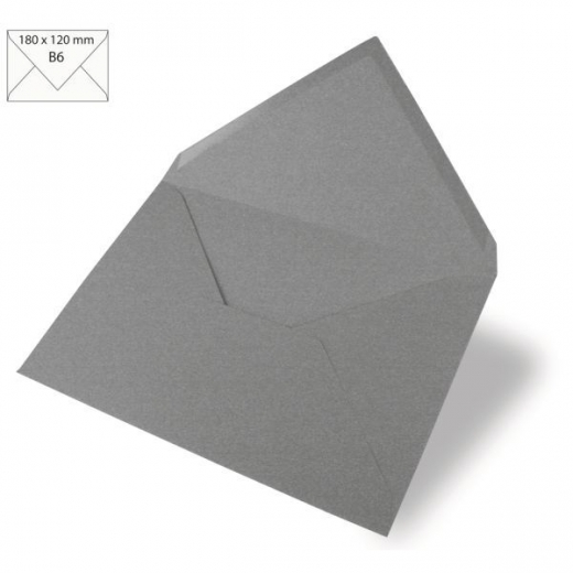 Kuvert B6 180x120mm 90g dunkelgrau