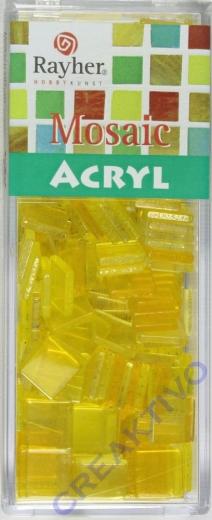 Acryl-Mosaik, 1x1 cm, transparent, lichtgelb