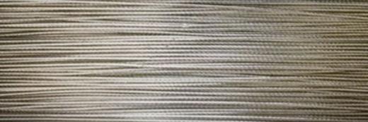 Edelstahldraht nylonbeschichtet platin 0,4mm Meterware